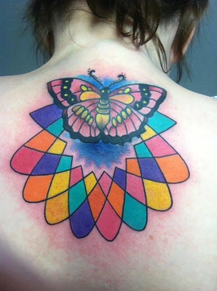 Couleurs dans un tatouage
